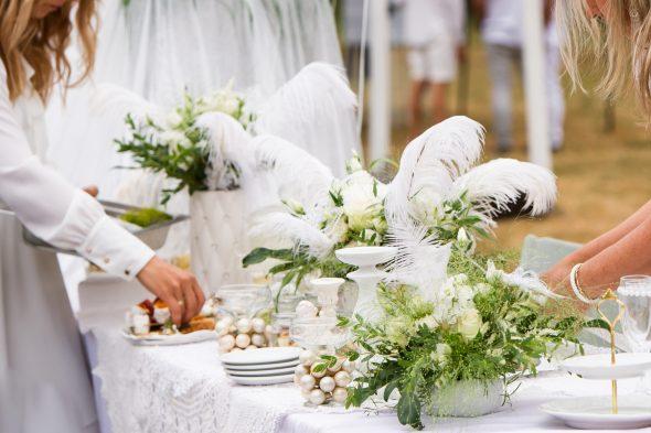 Brīnišķīgā baltā piknika tradīcija pulcē 500 viesus Mežotnes pils parkā